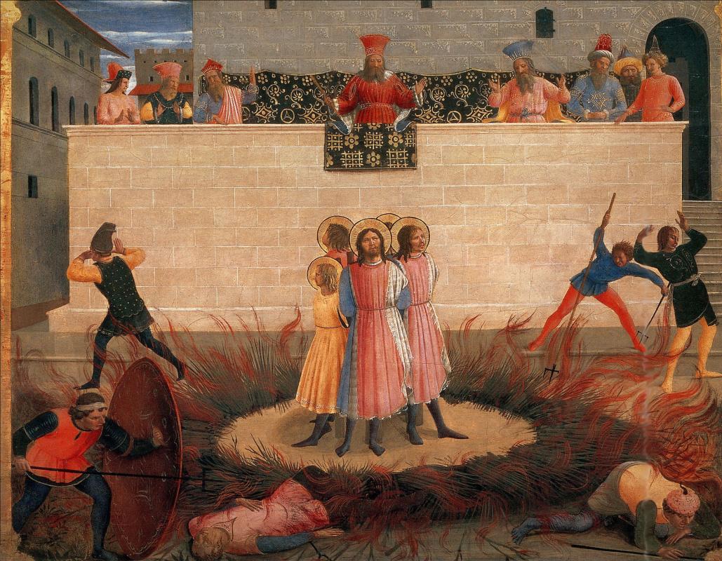 Фра Беато Анджелико. Осуждение святых Косьмы и Дамиана. Алтарь монастыря Сан Марко. Пределла 3