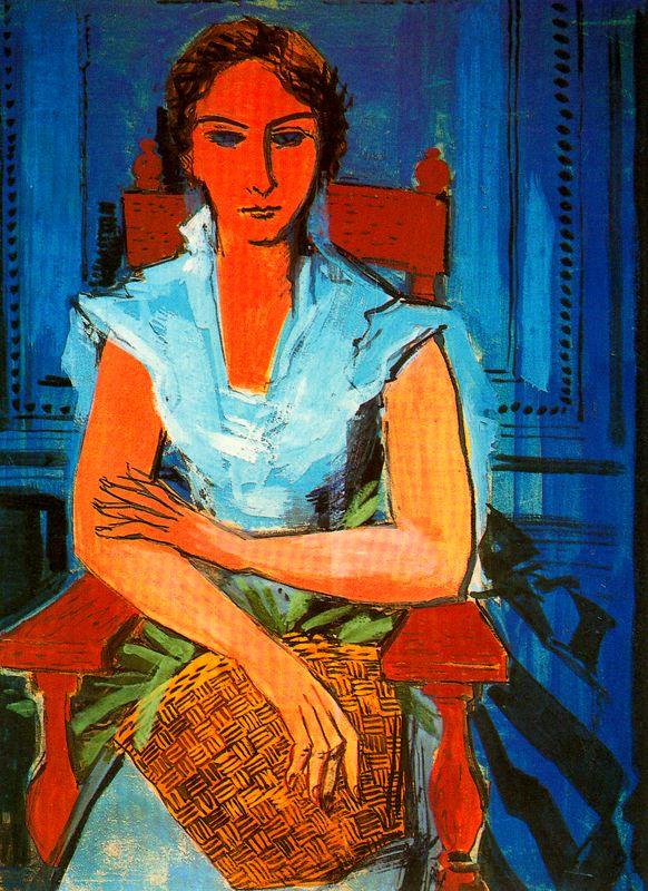 Исмаэль Гонсалес де ла Серна. Портрет женщины с корзиной