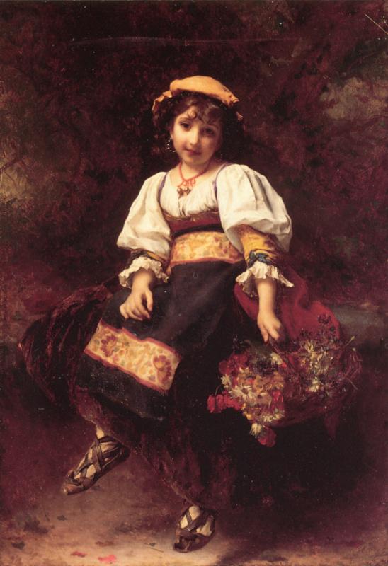 Этьен Адольф Пиот. Продавец цветов
