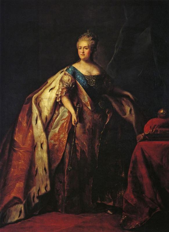 Petr Semenovich Drozhdin. Portrait of Empress Catherine II