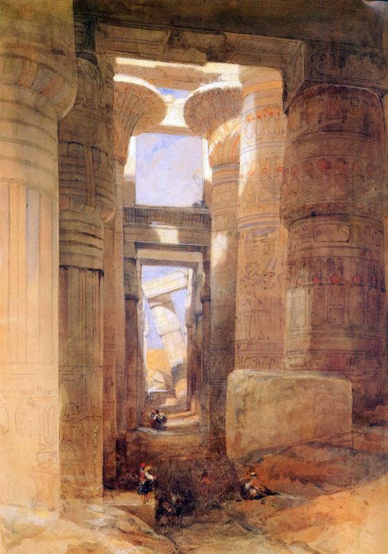 Дэвид Робертс. Храм Амона в Карнаке