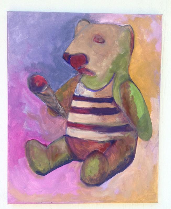 Никита Мурзин. The Secret Life of Animals. Bear eating ice-cream