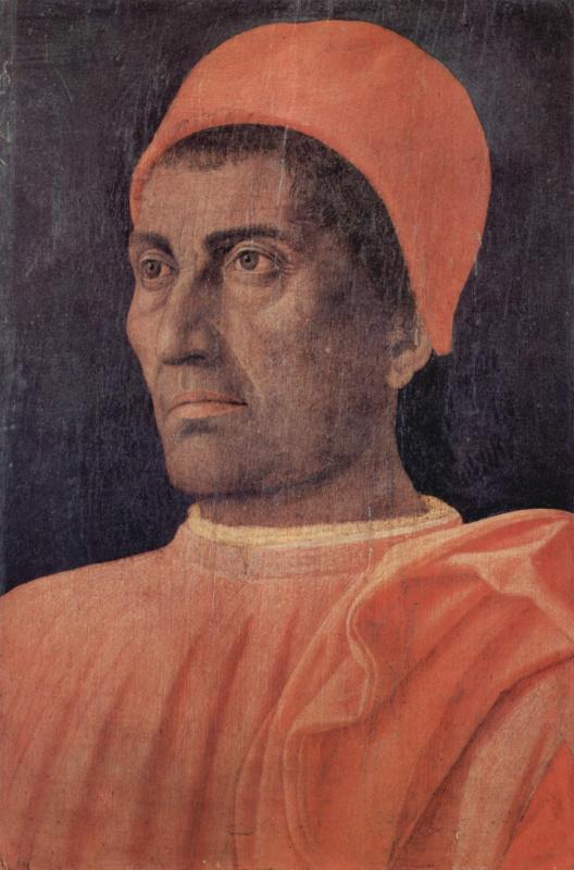 Andrea Mantegna. Portrait of cardinal Carlo de' Medici