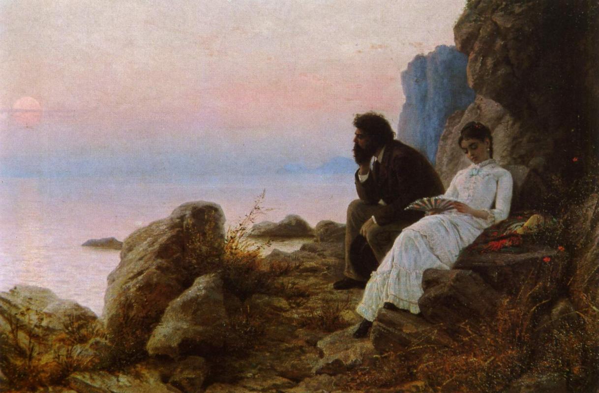 Grigory Grigorievich Myasoedov. Twilight. National Museum of Fine Arts, Chisinau, Moldova