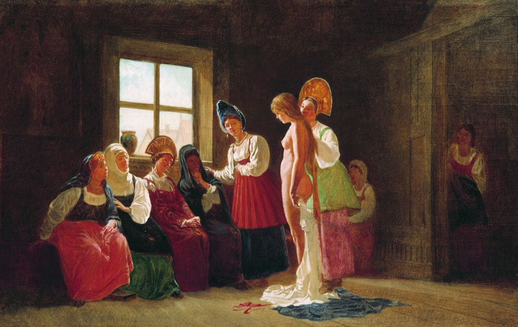 Grigory Grigorievich Myasoedov. Bride bride. The second half of the 19th century. State Russian Museum, St. Petersburg