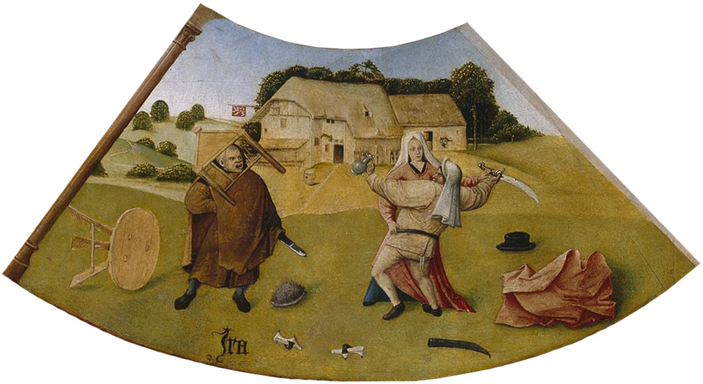 Hieronymus Bosch. Anger. The seven deadly sins and the Four last things. Fragment