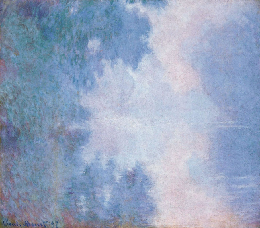 Клод Моне. Утро на Сене. Туман