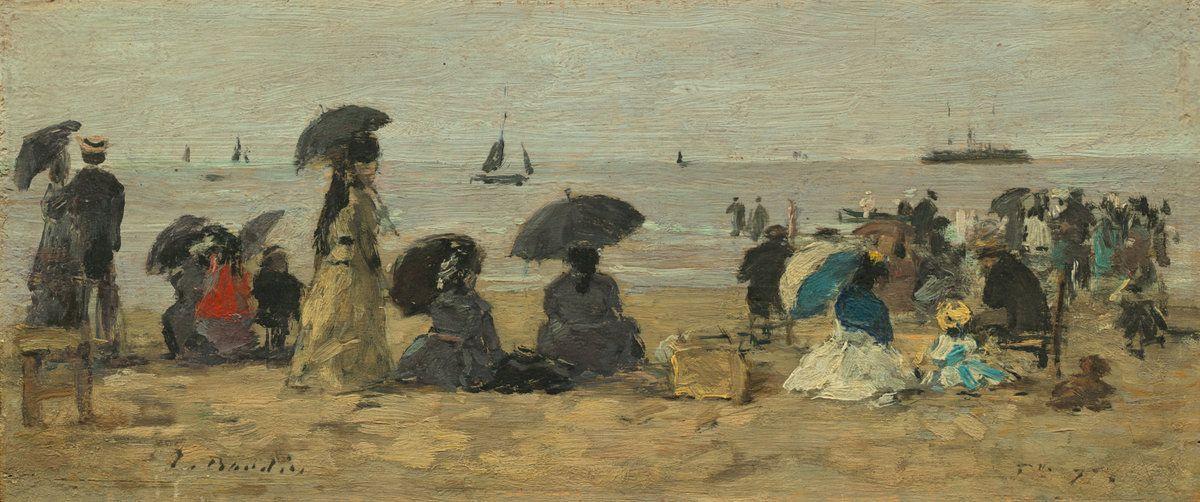 Eugene Boudin. Beach