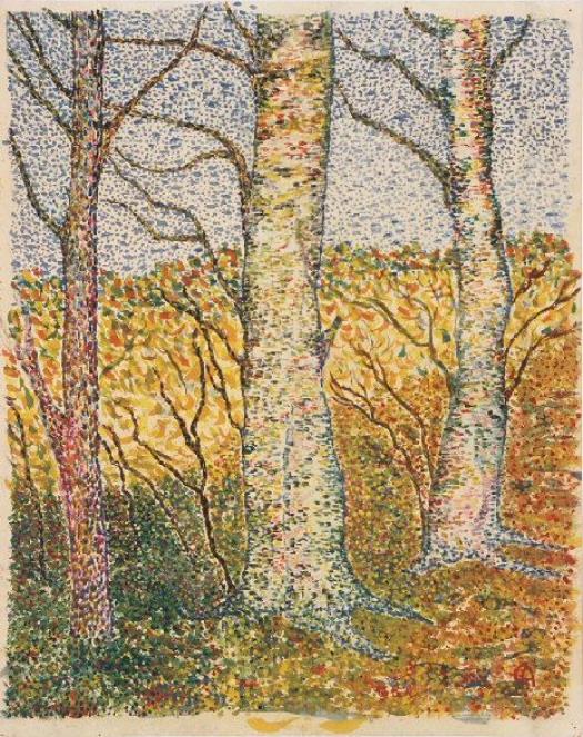 Cuno Amiè. In the woods