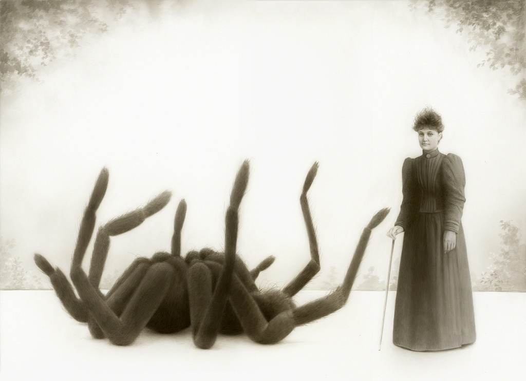 Louis Travis. Miss Emily Fowler and her giant spider