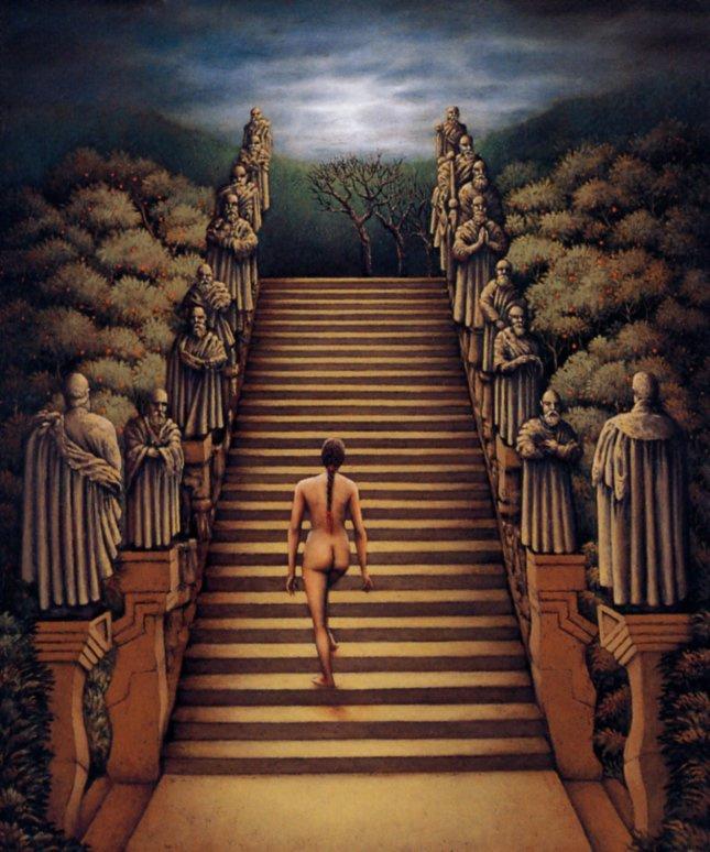 Роберто Маркес. Обнаженная поднимается по лестнице