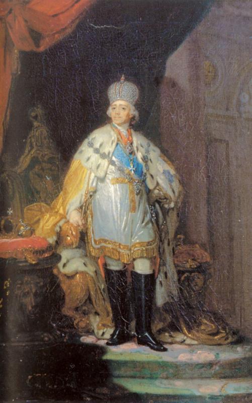 Владимир Лукич Боровиковский. Портрет Павла I в белом далматике
