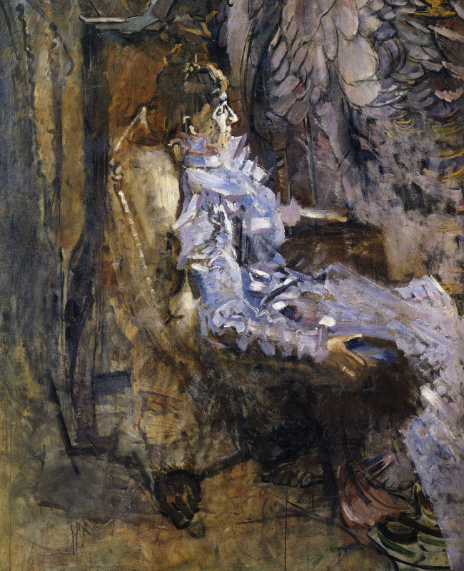 Mikhail Vrubel. The lady in purple. Portrait Of Nadezhda Ivanovna Zabela-Vrubel