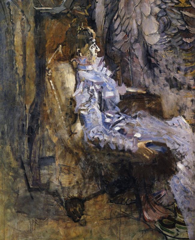 Mikhail Aleksandrovich Vrubel. The lady in purple. Portrait Of Nadezhda Ivanovna Zabela-Vrubel