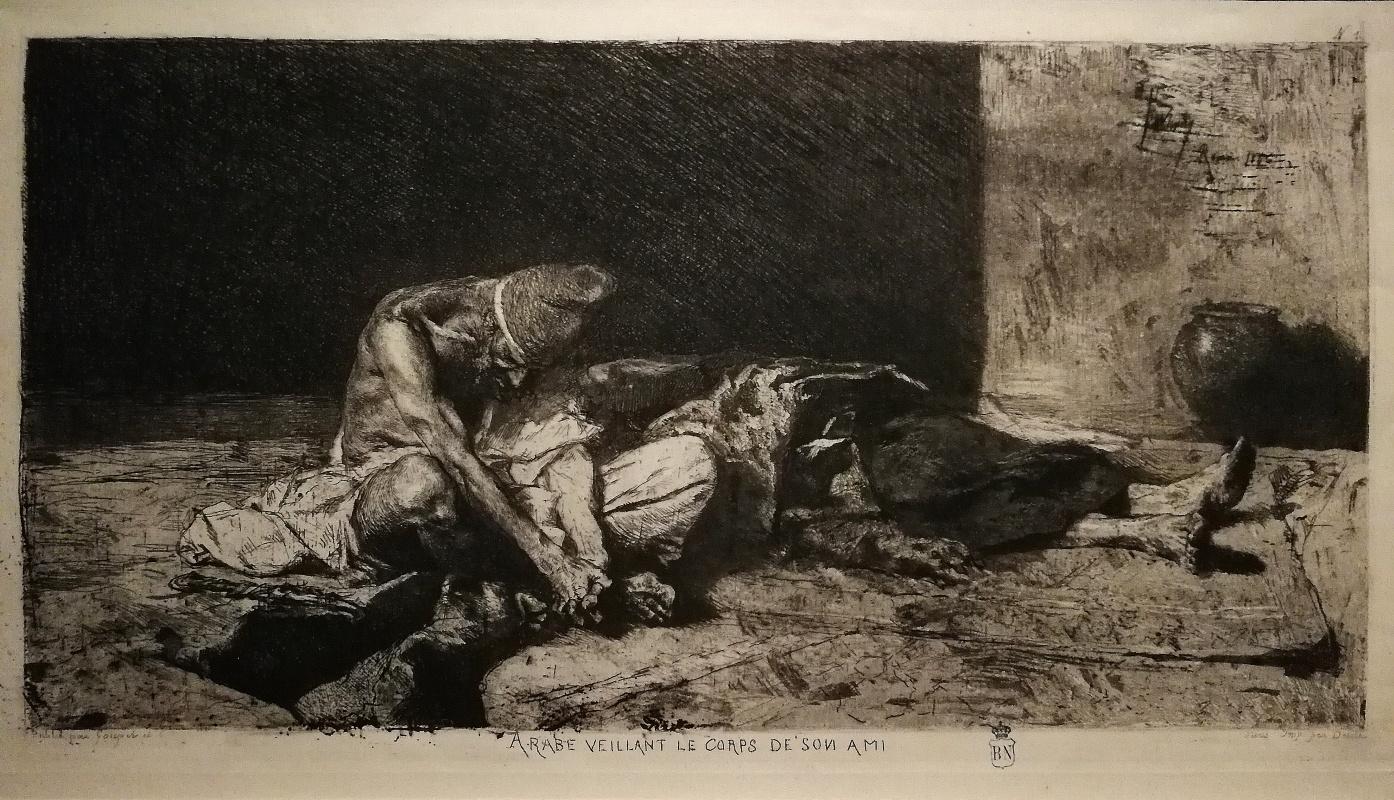 Мариано Фортуни. Араб, покрывший тело своего умершего друга