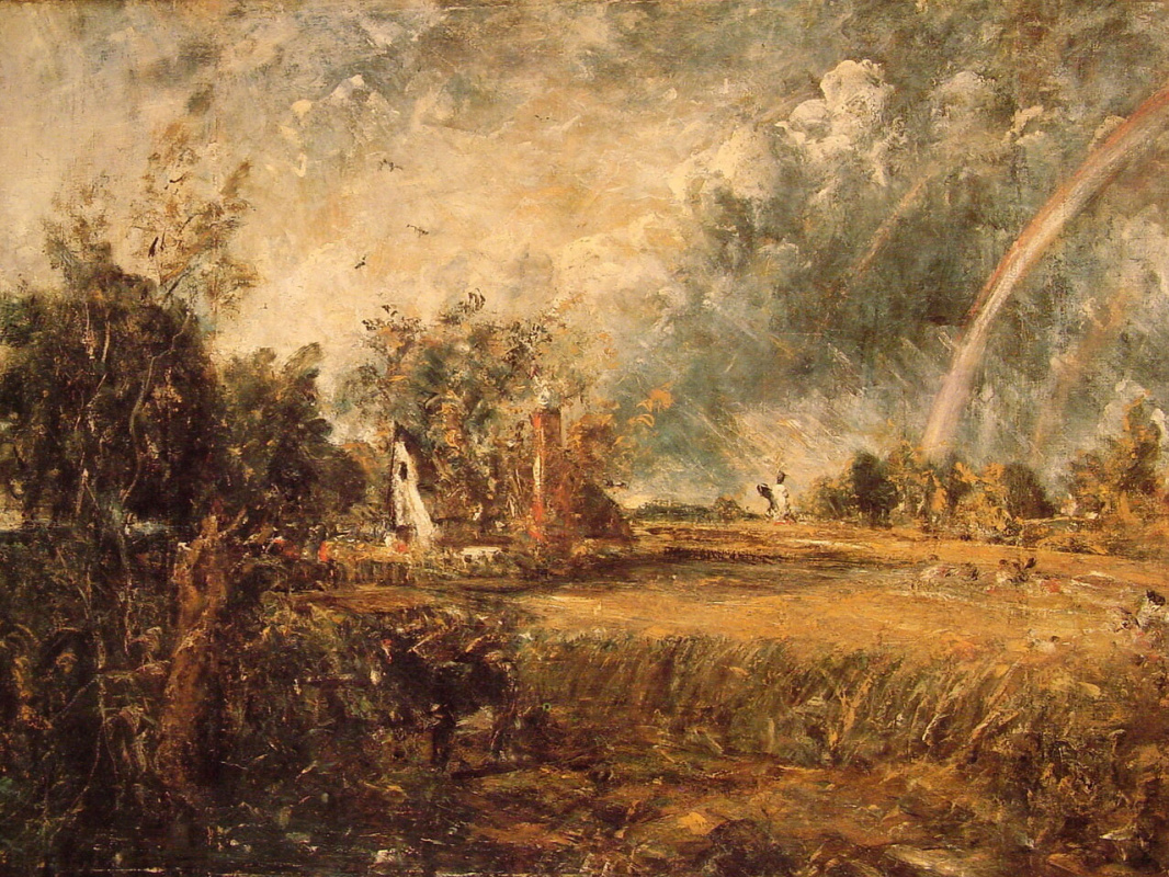 John Constable. Rainbow over the cottage in East Bergholt