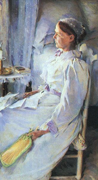 Сесилия Бо. Сидящая женщина