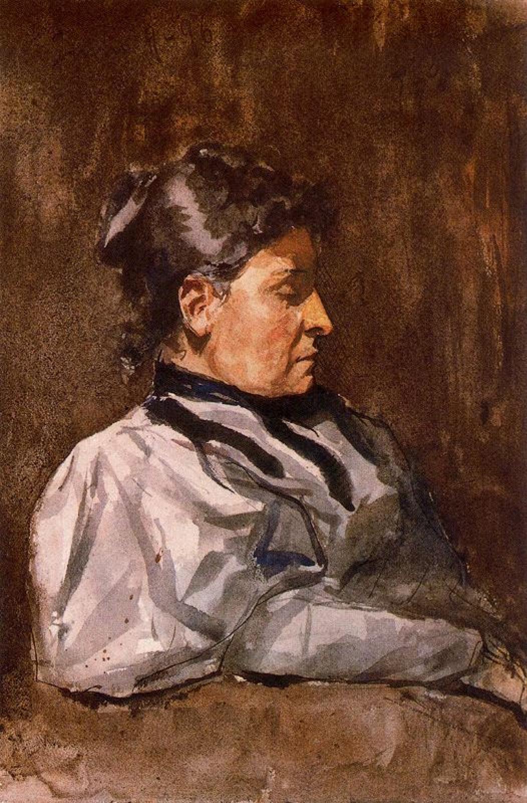 Пабло Пикассо. Профиль женщины (Портрет матери Пикассо)