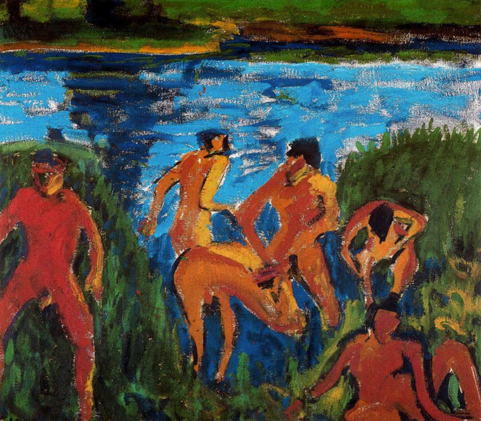 Erich Heckel. Bathers among the reeds