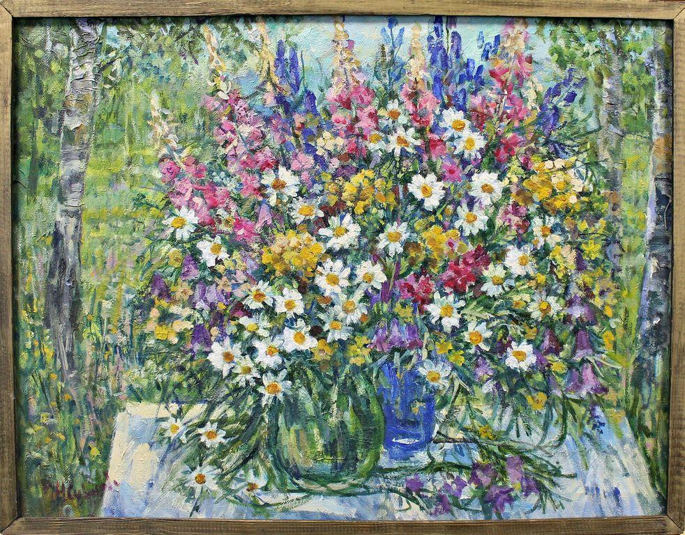 Natalia Vasilyevna Suvorova. Still life with daisies