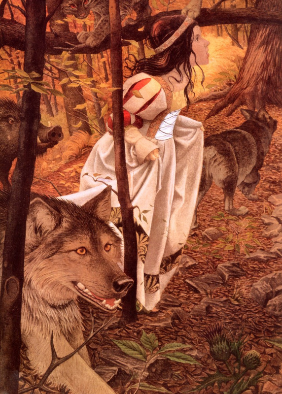 Чарльз Сантор. Белоснежка в лесу