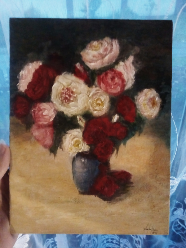 Кира Смородина. Пионы и розы. Ваза.