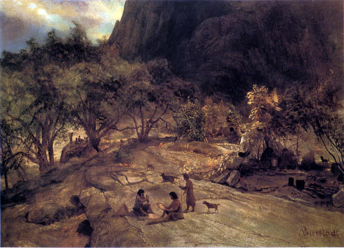 Альберт Бирштадт. Индейский лагерь, долина Йосмит в Калифорнии