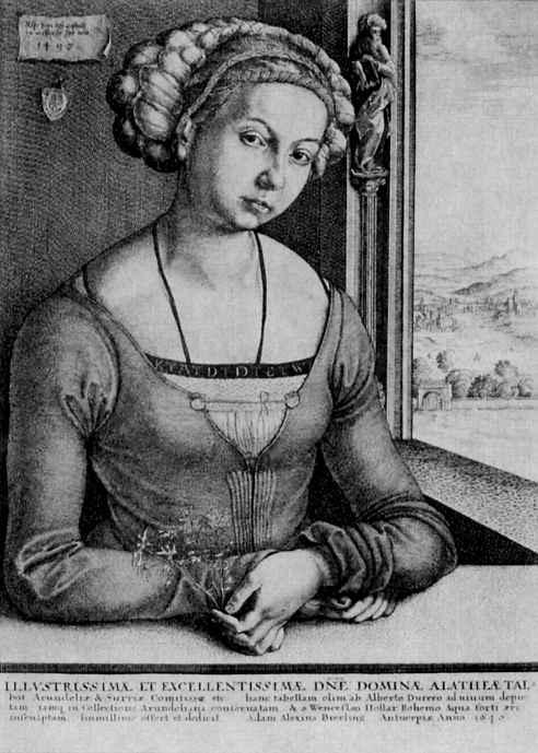 Венцель Холлар. Портрет девушки из семьи Фюрлегер