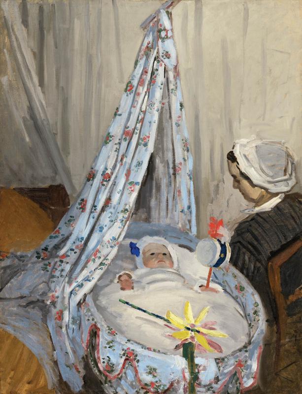 Клод Моне. Колыбель. Камилла с сыном художника Жаном