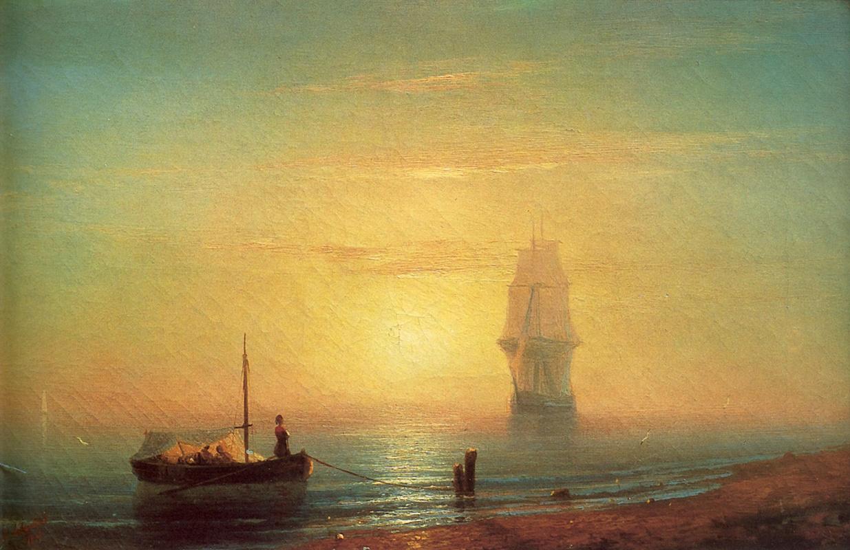 Иван Айвазовский. Закат на море
