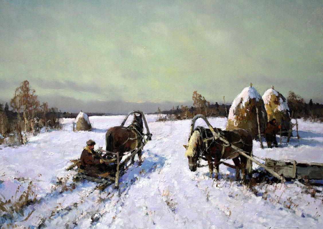 Alexander Markovich Kremer. Behind the hay