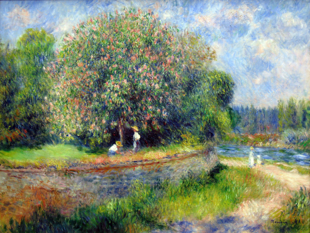 Pierre-Auguste Renoir. The chestnut was in flower