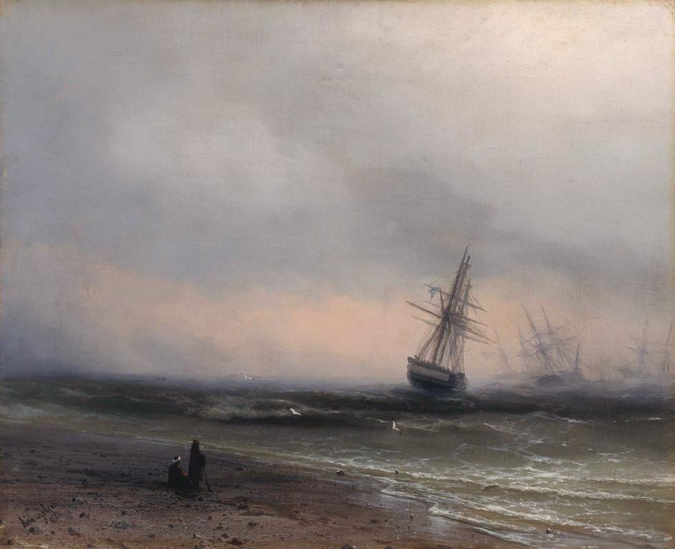 Ivan Aivazovsky. Sea landscape in the Crimea