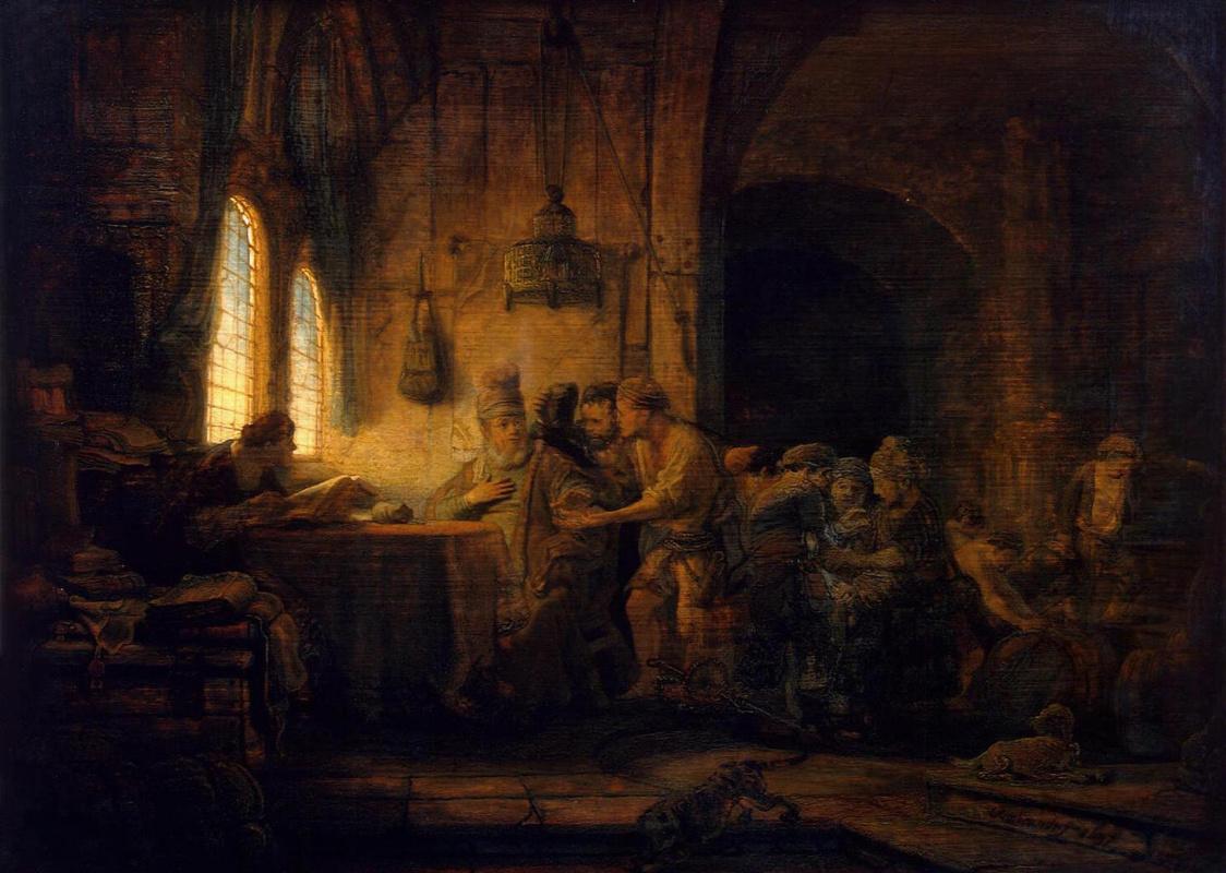 Рембрандт Харменс ван Рейн. Притча о работниках на винограднике