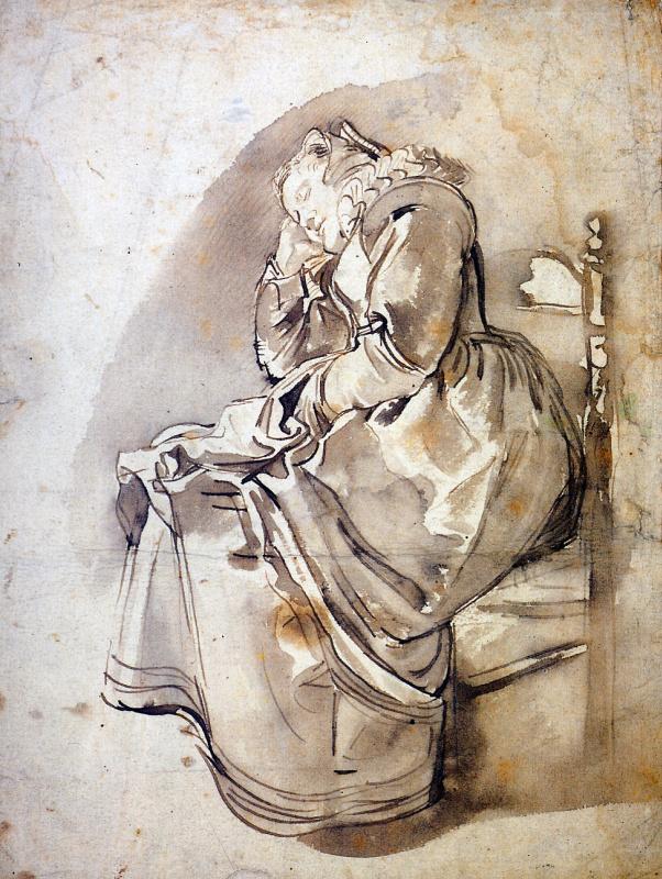 Виллем Бейтевех. Спящая женщина