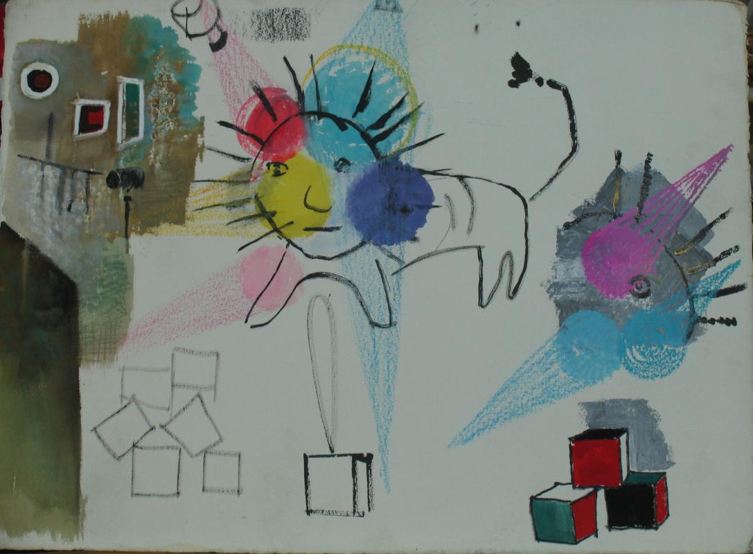 Enar Georgievich Stenberg. Sketch for Mayakovsky