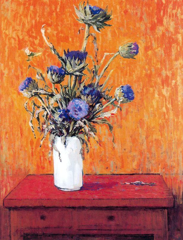 Франсиско Себастьян. Цветы в белой вазе