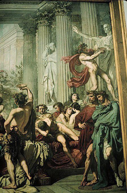 Thomas Couture. The Romans (fragment)