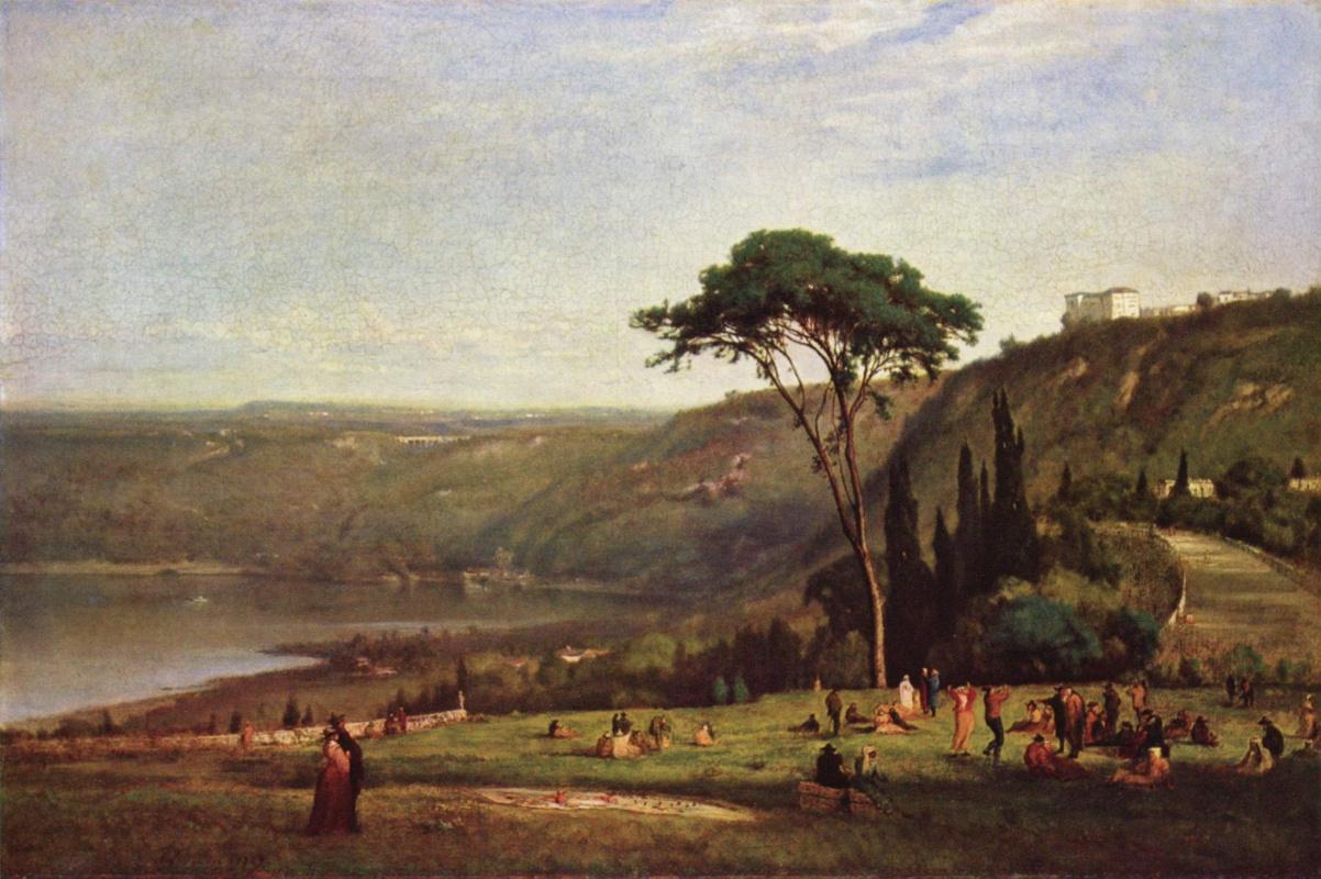 George Inness. Albanske lake