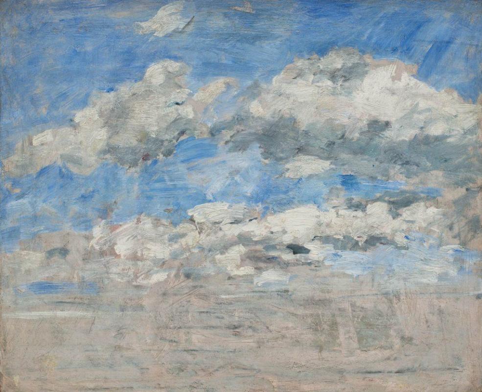 Эжен Буден. Облака на синем небе. Этюд