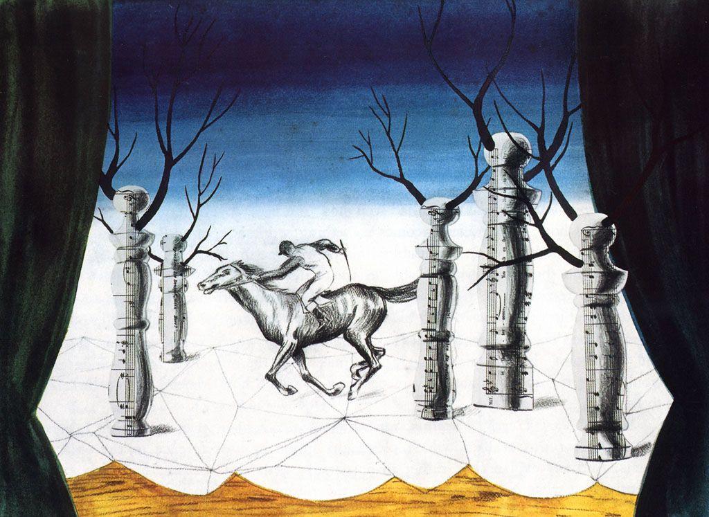 René Magritte. Lost jockey