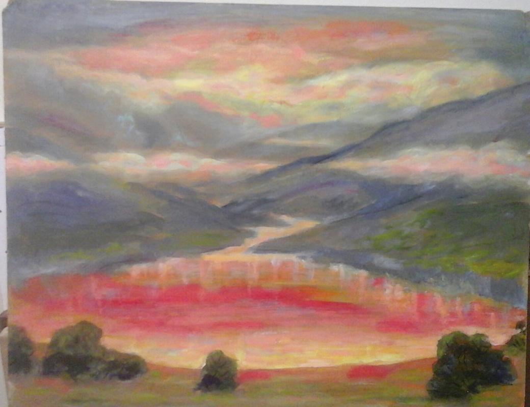 Valery Viktorovich Shechkin. Sunrise in the Himalayas