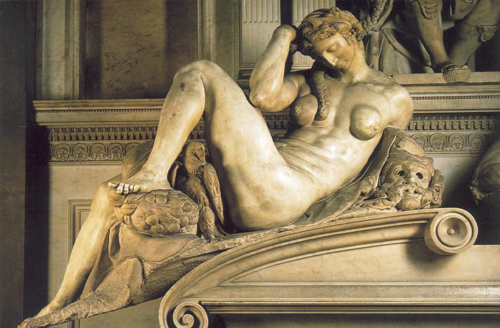 Микеланджело Буонарроти. Гробница Джулиано Медичи. Ночь
