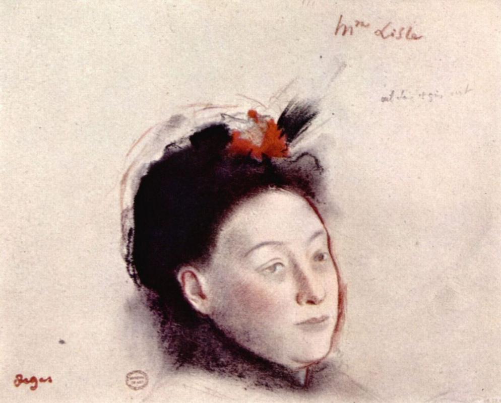 Эдгар Дега. Портрет мадам Лиль