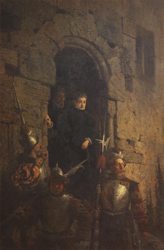 Vasily Polenov. The arrest of guenadi Jacobin de Montbel, Countess d Acreman
