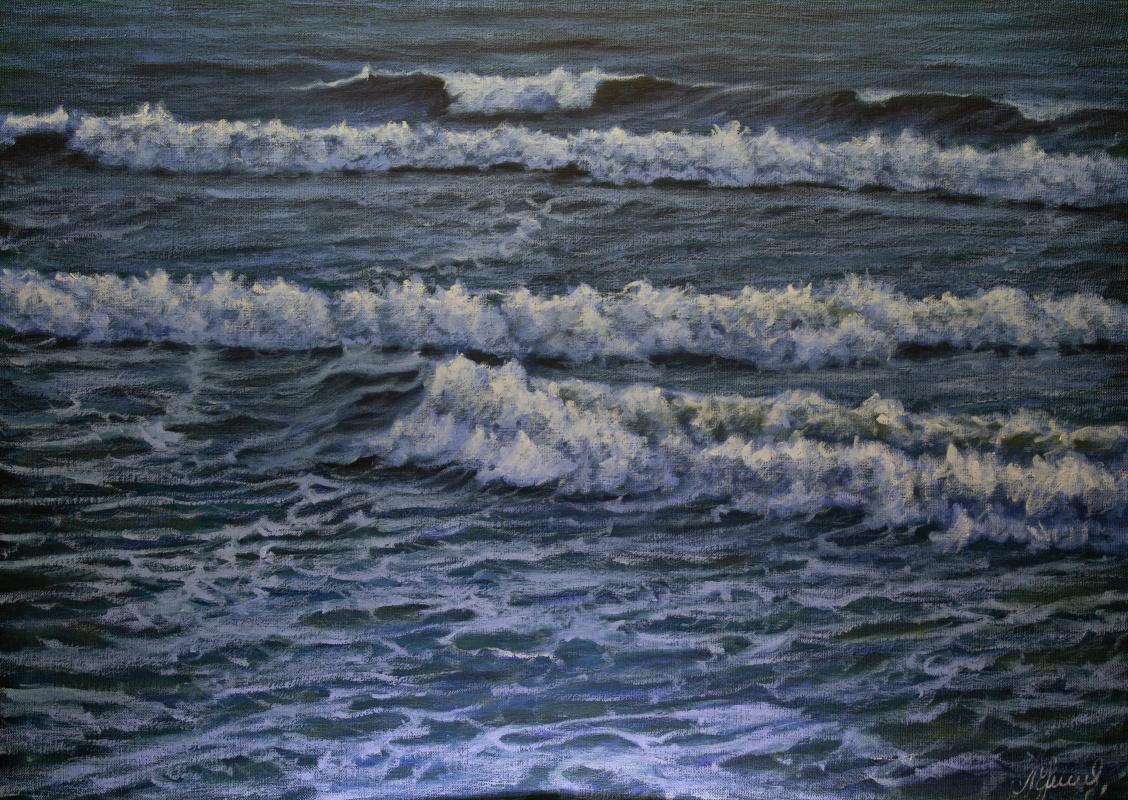 Valery Levchenko. № 598  Морской пейзаж.