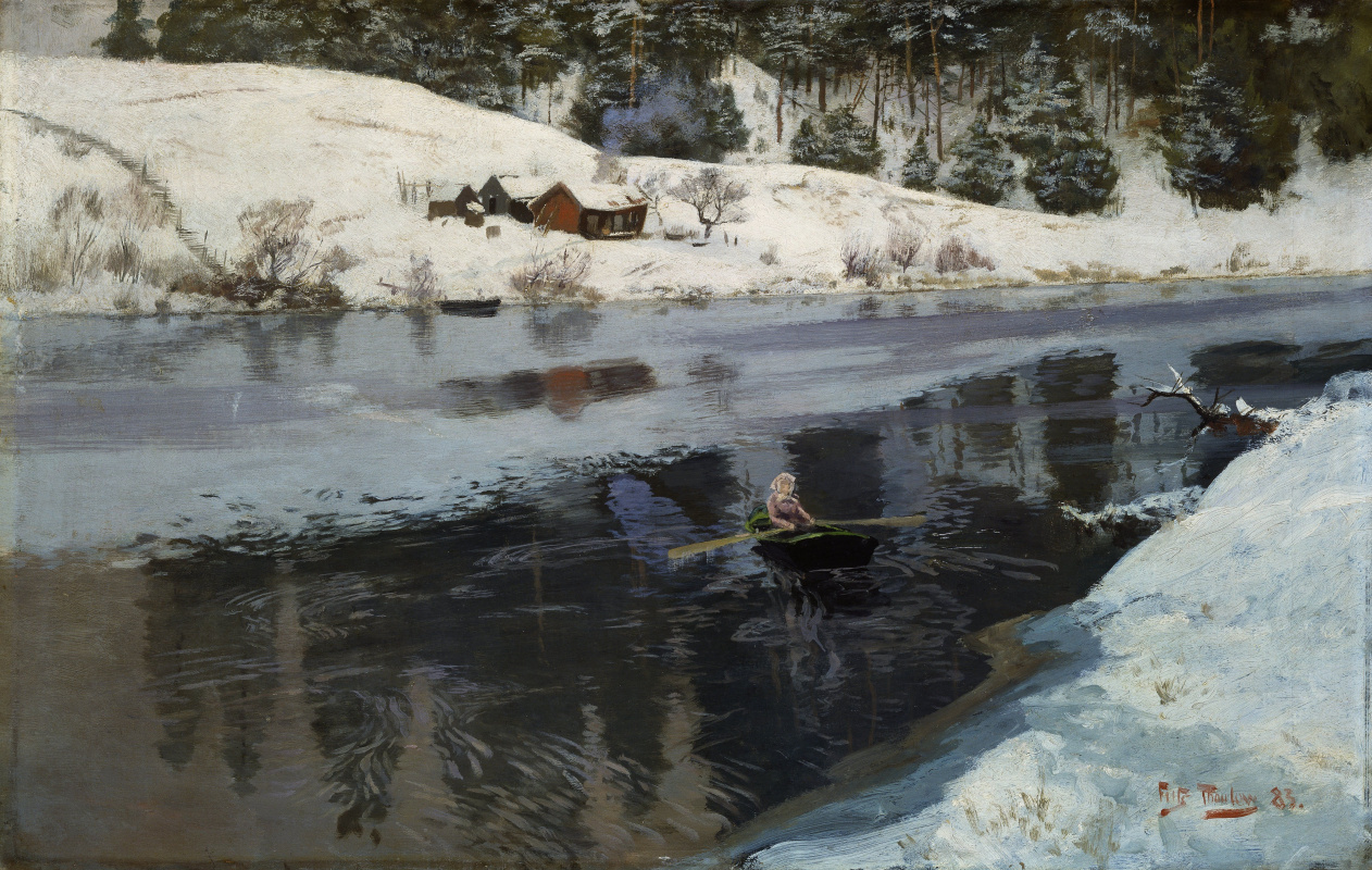 Фриц Таулов. Река Симое зимой