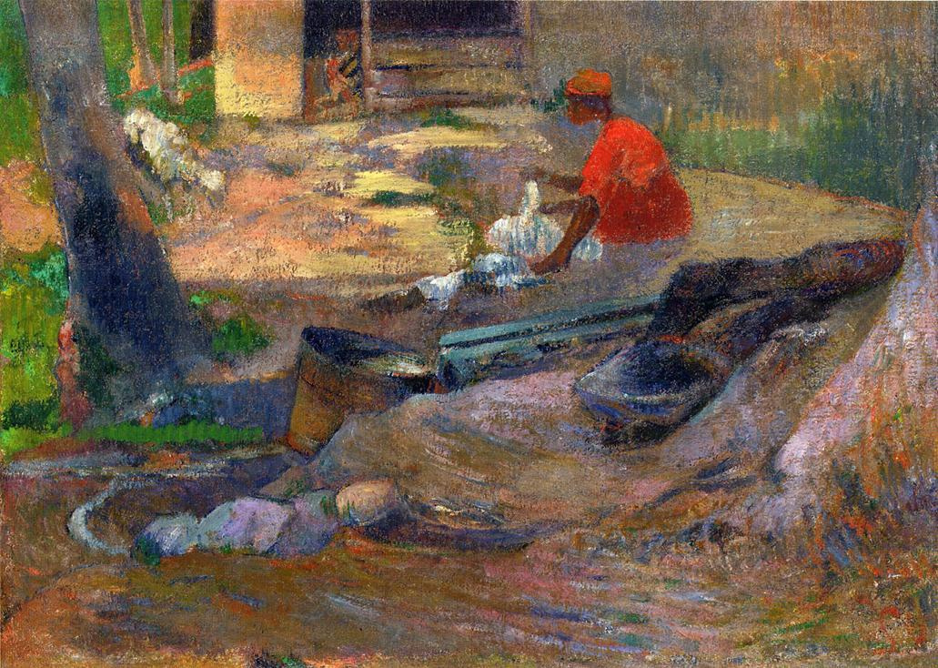 Paul Gauguin. The Little Washerwoman