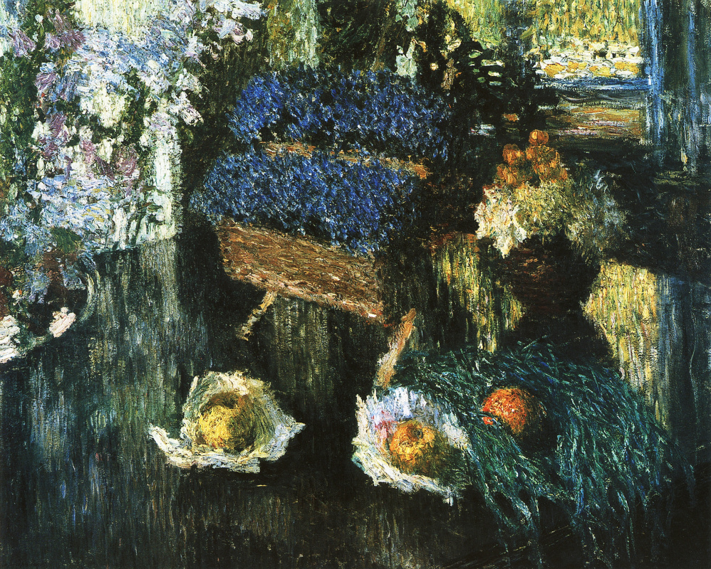 Igor Grabar. Flowers and fruits on the piano