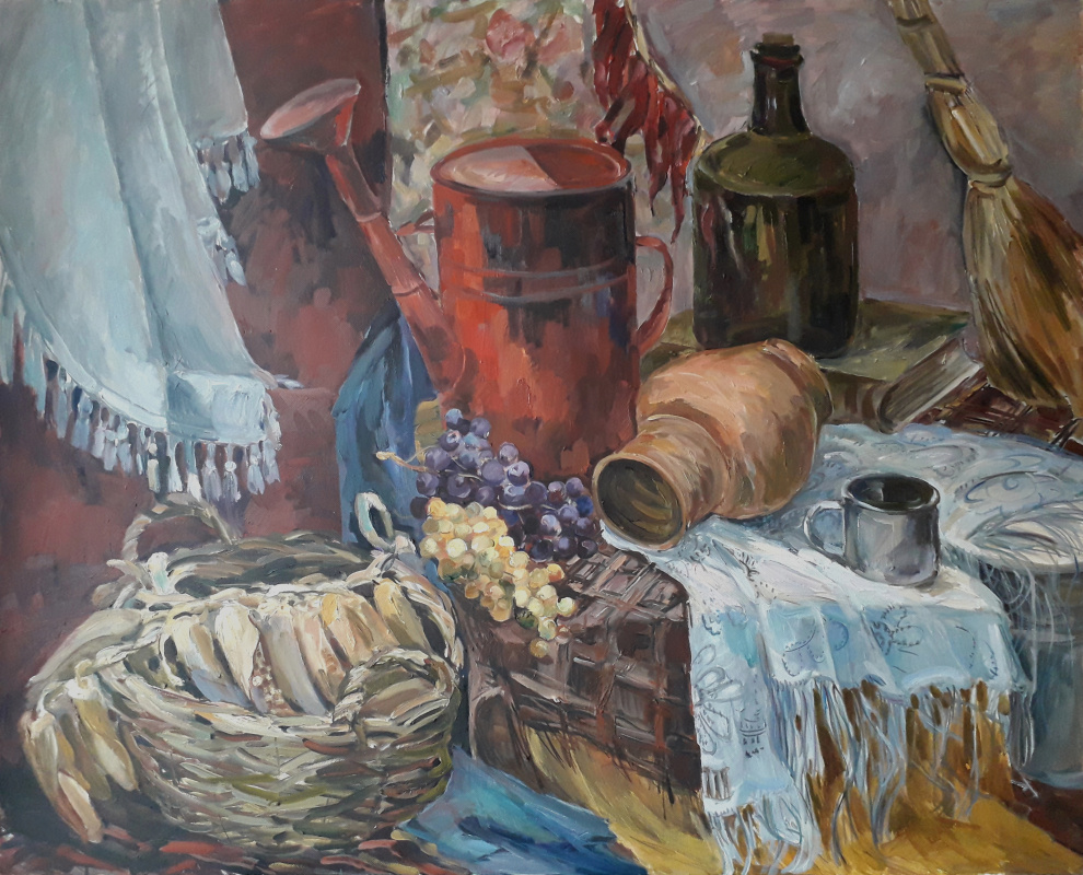 Lyudmila Lvovna Khlebnikova. Still life with a watering can